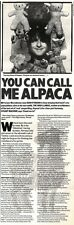 22/2/92Pgn44 Article & Picture you Can Call Me Alpaca The High Llamas Sean Ohaga
