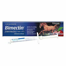 Bimectin Ivermectin Paste 1.87% Apple Flavored Horse Wormer 1 Tube Worms and Bot