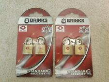 Brinks Luggage Locks 22mm Solid Brass Four Locks