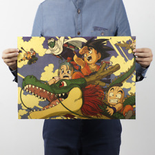 Famous Japanese Manga Dragon Ball Classic Cartoon Cartoon Poster Kraft Paper Dec
