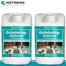 Hotrega 2x 5l Grünbelag-Entferner 1:3 Konzentrat Premium Fliesen Reiniger Algen