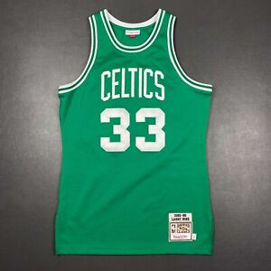 100% Authentic Larry Bird Mitchell & Ness 85 86 Celtics Jersey Size 44 L Mens