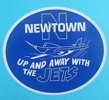 "THE JETS Vinyl Decal Sticker ""UP & AWAY WITH THE JETS"" NEWTOWN RUGBY LEAGUE nrl"
