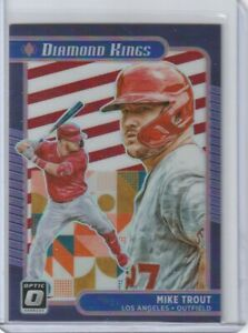 2021 Optic Choice Mike Trout Diamond Kings FREEDOM PRIZM #d 15/45 SP Angels
