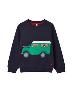 JOULES Tom Joule Sweatshirt WINTER Jeep blau Gr. 110 NEU