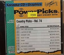 SOUND CHOICE KARAOKE POWER PICKS CD+G COUNTRY VOL 74 #3152