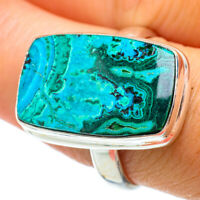Malachite In Chrysocolla 925 Sterling Silver Ring Size 9.25 Jewelry R42178F
