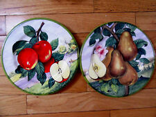 Set of 2 Porcelain plates Villa d'Este from Italy Pears and Apples