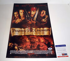 Johnny Depp Signed Autograph Pirates of The Caribbean Movie Poster PSA/DNA COA