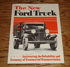 1932 Ford Truck & Wagon Full Line Foldout Sales Brochure 32
