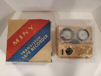 MINY MODEL-101 TRANSISTOR TAPE RECORDER NIB - NEW IN BOX - as-is