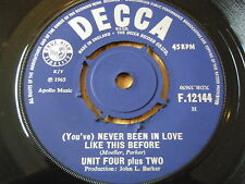 "UNIT FOUR PLUS TWO - NEVER BEEN IN LOVE LIKE THIS BEFORE      7"" VINYL"