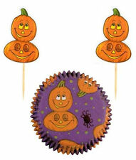 Smiling Pumpkin Halloween Cupcake Combo Pack from Wilton #2249 - NEW
