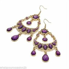 Unbranded Mixed Metals Oval Costume Earrings