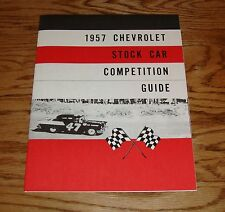 1957 Chevrolet Stock Car Competition Guide Manual 57 Chevy