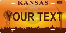 Kansas Dawn license plate Tag Personalized Auto Car Custom VEHICLE OR MOPED