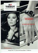 Publicité Advertising 049  2011  montre Tissot lady diamant  &  Danica Patrick