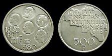 Belgium - 500 Francs 1980 (Dutch) Baudouin ~ silver