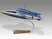 Gerry Anderson Thunderbird Stingray Model Mahogany Wood Handmade Desktop Model