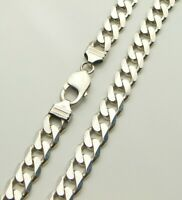 "Heavy Sterling Silver (925) 20"" Unisex Solid Linked Curb Chain Necklace"