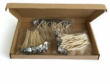 50 x 12cm -5inch Pre Waxed Wicks with Sustainers For Candle Making Top Quality
