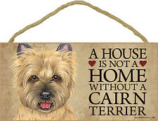 Cairn Terrier Wood Dog Sign Wall Plaque Photo Display 5 x 10 - House Is Not A.