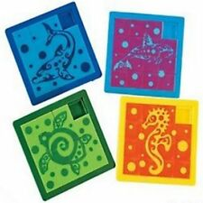 Pack of 4 - Tropical Tribal Slide Puzzles - Jungle Party Bags Favours Fillers