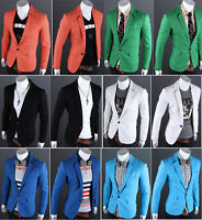 Mens Blazer Jacket Adults Fashion Design Smart Slim-Fit Blazers Coat XS/S/M/L/XL