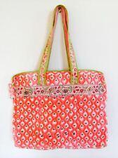 Pink Block Print Large Bag