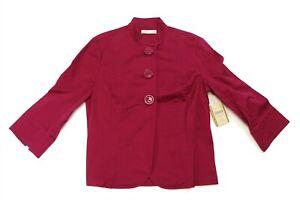 COLDWATER CREEK Women's Sunwashed 3 Button Knit Blazer Jacket - PINK - 6