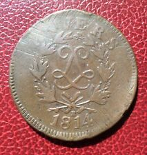 France - Belgique - Louis XVIII  - Siège D'Anvers  - 10 Centimes 1814 R