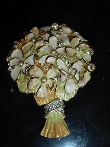 JAY STRONGWATER VIOLETS WITH PEARLS HAND MIRROR