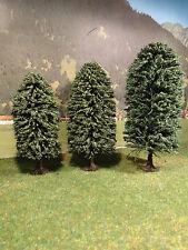 Bäume Jordan Laubbäume grün 3 St. H0 0 und 1 für Modellbahn Anlage etc.