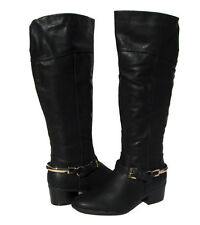 New Women's Winter Western Style Riding Boots Black Snow Ladies size 6