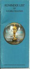 62nd ACADEMY AWARDS OSCARS 1989-90 Reminder List Program: Driving Miss Daisy