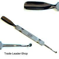 Gouge petite cuillère poussoir cuticules spatule en acier inoxydable NATRA