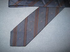 Mens Blue Striped Print Silk Tie Necktie Oakton~ FREE US SHIP (6522)