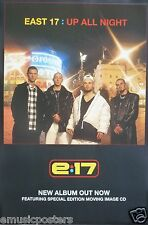 "EAST 17 ""UP ALL NIGHT"" U.K. PROMO POSTER - Pop, Europop, Rap, Hip hop Music"