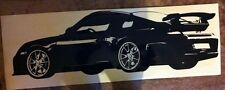 Porsche 911 GT3 mirror wall art Vinyl Decal sticker great detail race track car
