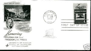 1119 Freedom of the Press ArtCraft  FDC
