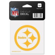 PITTSBURGH STEELERS GOLD LOGO WINCRAFT 4X4 DECAL STICKER FREE SHIPPING
