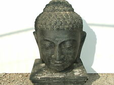 Buddha Kopf Figur Statue Stein Deko Garten 16.69
