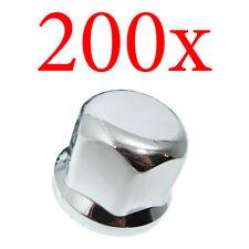 200x Radmutterkappen Abdeckung Radzierblenden 32mm Chrom LKW Edestahl Kappen