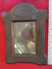 """Old Picture in Nice Walnut Frame ~ 10"""" X 7 1/2"""""""
