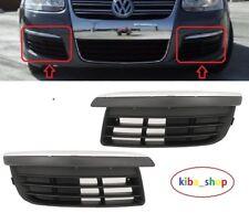 VW GOLF V JETTA MK5 04-11 FRONT BUMPER LOWER GRILL GRILLS PAIR L+R CHROME BROWS