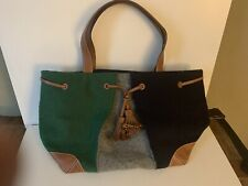 Kate Spade Leather/Woolen Tote Bag