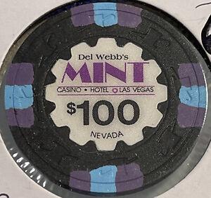 1985 DEL WEBB'S MINT $100 Casino Chip Las Vegas Nevada