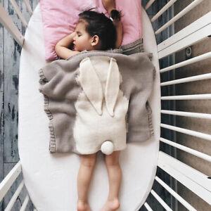 Baby Knit Blanket Rabbit Cute Newborn Crochet Quilt Baby's Bobtail Bunny Blanket