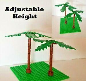 Lego Tree Set of 2 Minifigure Vacation Hawaiian Palm Ocean Rescue Plant Camping