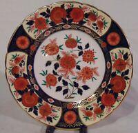 """English Royal Crown Derby Porcelain Imari Plate 8 1/2"""" Antique Chrysanthemum"""